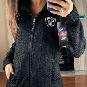 Oakland Raiders Crossover Textured Jacket Women